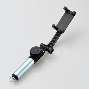 エレコム P-SSBMRBU Bluetooth自撮り棒(女子向け/45cm/回転ホルダータイプ)  アイスブルー