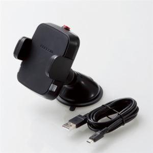 エレコム W-QC02BK Qi規格対応ワイヤレス充電式車載ホルダー(コンパクト) ブラック
