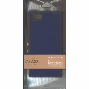 ラスタバナナ 5202IP747HB iPhone8/7/6s/6共用ハイブリッドケース   ブルー