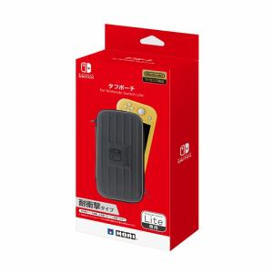 ホリ NS2-014 タフポーチ for Nintendo Switch Lite   ブラック×グレー