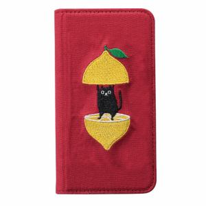 サンクレスト iPhone 8/7/6s/6 KUSUKUSU CAT FLIP レモンネコ I33DKS02