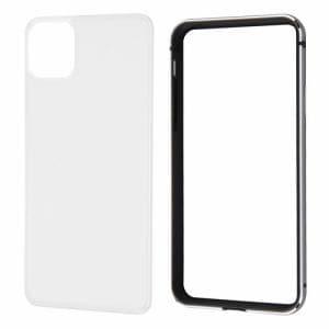 レイ・アウト iPhone 11 Pro Max (6.5インチ) アルミバンパー+背面パネル(クリア)/ブラック RT-P22AB/BM