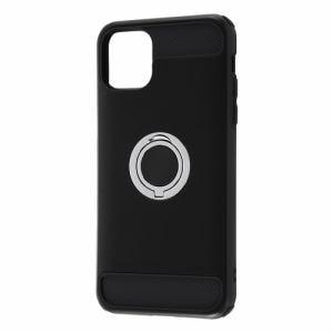 レイ・アウト iPhone 11 Pro Max (6.5インチ) 耐衝撃 リング360/ブラック RT-P22AC2/B