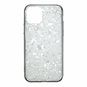 CCCフロンティア iPhone 11 Pro (5.8インチ) ケース Glass Shell Case white UNI-CSIP19S-0GSWH