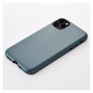 CCCフロンティア iPhone 11 Pro (5.8インチ) ケース Smooth Touch Hybrid Case blue gray UNI-CSIP19S-1STBG
