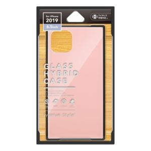 PGA PG-19CGT03PK iPhone 11 Pro Max用 ガラスハイブリッドケース Premium Style  ピンク