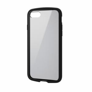 エレコム PM-A17MTSLFCBK iPhone 8/7 TOUGH SLIM LITE/フレームカラー