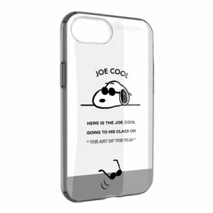 グルマンディーズ SNG-446C ピーナッツ IIII fit Clear iPhone8/7/6s/6対応ケース ジョー・クール