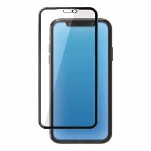 エレコム PM-A19CFLGGCRBB iPhone 11用 フルカバーガラスフィルム/セラミックコート/BLカット