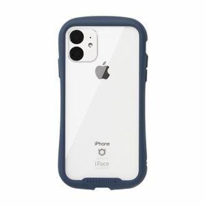Hamee 41-907375 [iPhone 11専用]iFace Reflection強化ガラスクリアケース(ネイビー)