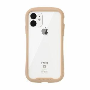 Hamee 41-907399 [iPhone 11専用]iFace Reflection強化ガラスクリアケース(ベージュ)
