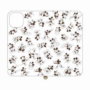 グルマンディーズ DN-660A ディズニーキャラクター iPhone 11 Pro Max 対応フリップカバー ミッキーマウス