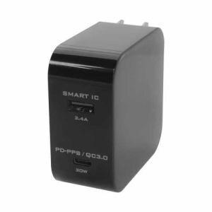 オウルテック OWLACPDU1SBK PD AC充電器   ブラック