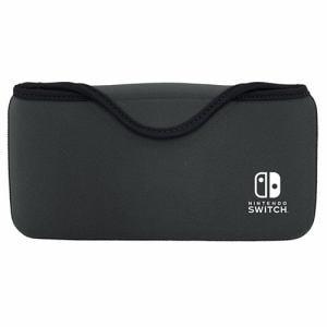 キーズファクトリー QUICK POUCH for Nintendo Switch Lite チャコールグレー