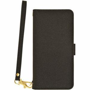 ラスタバナナ 5219AQOS3BO AQUOS sense 3/sense 3 light 手帳型ケース+ハンドストラップ ブラック