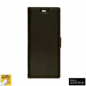 ラスタバナナ 5306XP8BO Xperia 8 SOV42用ケース カバー 手帳型 +COLOR 薄型 サイドマグネット BK×DBR スマホケース
