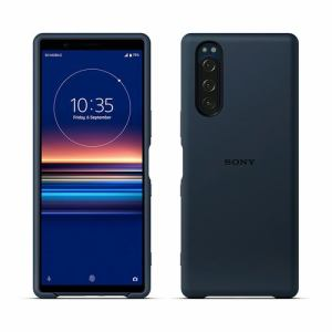 SONY SCBJ10JP/L Xperia 5 Style Cover   ブルー