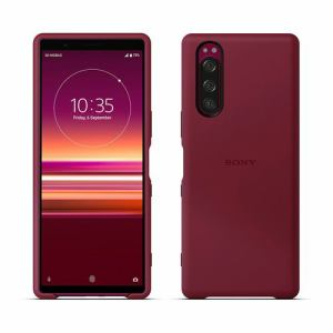 SONY SCBJ10JP/R Xperia 5 Style Cover   レッド