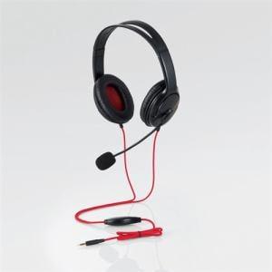 エレコム HS-GM20BK PS4/Switch対応 両耳ゲーミングヘッドセット ブラック