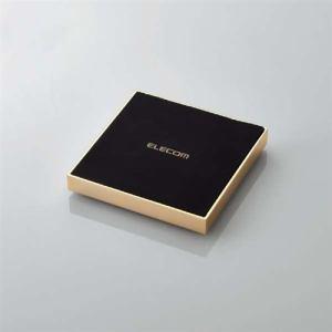 エレコム W-QA11GD Qi規格対応ワイヤレス充電器 急速 卓上 メタル筐体 ゴールド