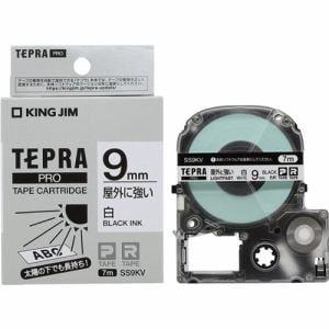キングジム SS9KV テプラ PROテープ 屋外に強い(白/黒文字・9mm幅×7m)