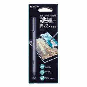 エレコム P-TPACST01BK スマートフォン・タブレット用タッチペン アクティブスタイラス クリップ付 ブラック