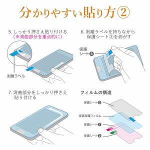 エレコム PM-A19AFLFPBLR iPhone SE(第2世代) フルカバーフィルム 衝撃吸収 反射防止 ブルーライトカット 透明 防指紋