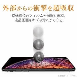 エレコム PM-A19AFLGLPN iPhone SE(第2世代) ガラスコートフィルム