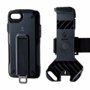 エレコム PM-A19ANESTTBK iPhone SE(第2世代) NESTOUT Trekking ブラック