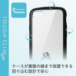 エレコム PM-A19ATSLFCRBK iPhone SE(第2世代) TOUGH SLIM LITE フレームカラー リング付 ブラック