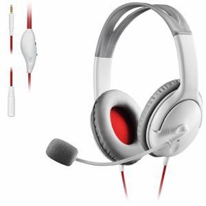 エレコム HS-GM20WH ゲーム向けヘッドセット 4極 両耳オーバーヘッド 1.0m 1.5m延長ケーブル付 PS4、Switch対応 ホワイト