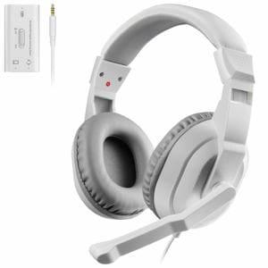 エレコム HS-GM30MWH ゲーム向けヘッドセット 4極 両耳オーバーヘッド USBデジタルミキサー付 PS4 Switch対応 ホワイト