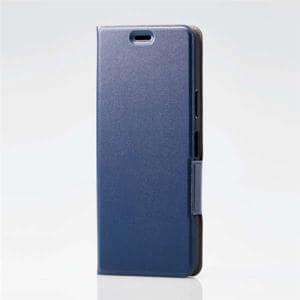 エレコム PM-X202PLFUNV ソフトレザーケース 薄型 磁石付 ネイビー