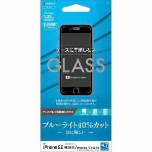 ラスタバナナ GE2470IP047 iPhone SE(第2世代)・8・7・6s・6用 ガラスパネル AGC製 0.33mm ブルーライトカット