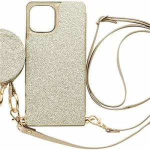 CCCフロンティア iPhone 12 Pro/12用  ケース Cross Body Case Glitter Series prism gold ML-CSIP20L-2CBPG