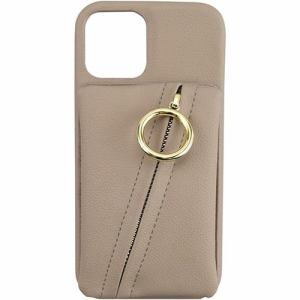CCCフロンティア iPhone 12 Pro / iPhone 12 (2020年発売 6.1インチ)ケース Clutch Ring Case beige ML-CSIP20L-2CRBE