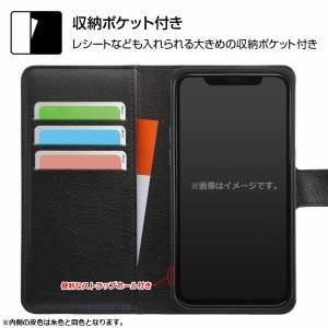レイ・アウト iPhone 12 Pro / iPhone 12 (2020年発売 6.1インチ)耐衝撃 手帳 マグネット/ブラック/レッド RT-P27ELC1/BR