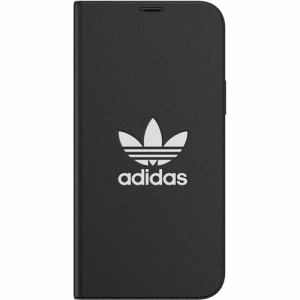adidas iPhone 12 Pro / iPhone 12 (2020年発売 6.1インチ)OR Booklet Case Trefoile FW20 black/white 42227