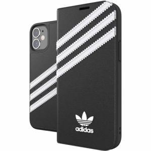 adidas iPhone 12 mini (2020年発売 5.4インチ) OR Booklet Case SAMBA FW20 black/white 42244