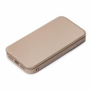 PGA PG-20GGF03BE iPhone12/iPhone12 Pro用 ガラスタフフリップカバー Premium Style ベージュ