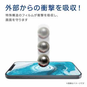 エレコム PM-A20BFLGLPN  iPhone 12/12 Pro ガラスライクフィルム 衝撃吸収