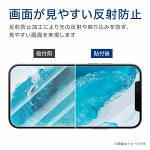 エレコム PM-A20BFLPWBL  iPhone 12/12 Pro フィルム 超衝撃吸収 ブルーライトカット 指紋防止 反射防止