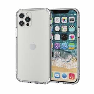 エレコム PM-A20BHVBCR  iPhone 12/12 Pro ハイブリッドバンパーケース クリア
