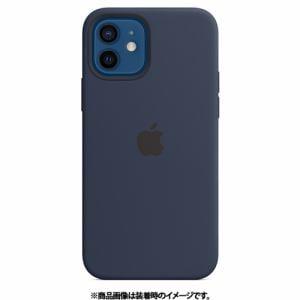 アップル Apple MHL43FE/A iPhone 12/iPhone 12 Pro シリコーンケース ディープネイビー