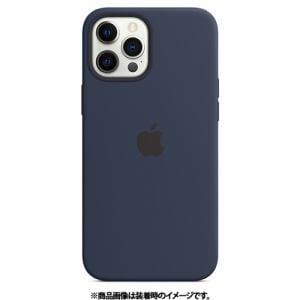 アップル Apple MHLD3FE/A iPhone 12 Pro Max シリコーンケース ディープネイビー