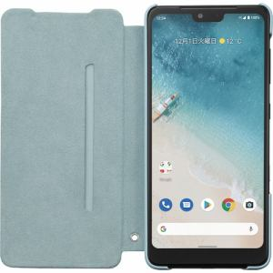 SoftBank SELECTION KC-FCCS501-L 京セラ純正 フリップケース Android One S8 ブルー