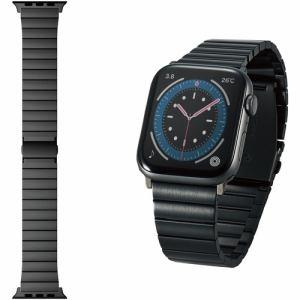 エレコム AW-44BDSS1BK Apple Watch 44 42mm バンド ステンレス 1連タイプ ブラック