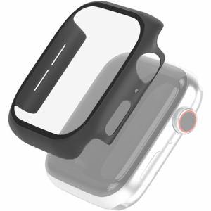 エレコム AW-44CSPCGBK Apple Watch 44mm フルカバーケース ガラス ブラック