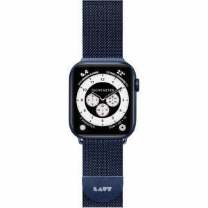 LAUT L_AWS_ST_BL Apple Watch 1/2/3/4/5/6/SE 38/40mm BAND STEEL LOOP ネイビーブルー