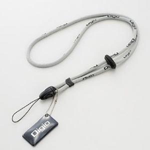ナカバヤシ DCA-092GY デジタルカメラストラップ グレー